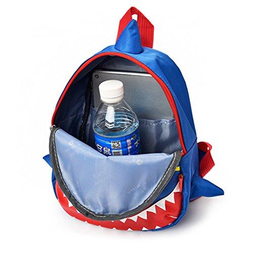 Children Backpack Rose for Shark Red Schoolbag Bags Children School Kids Nylon Wanfor Student Cartoon Kids Backpack 8xqBP