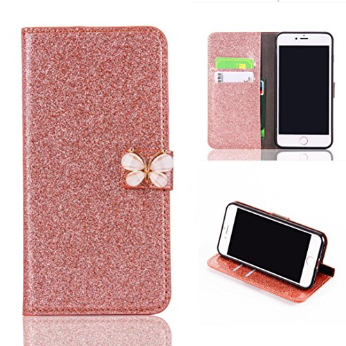 Price comparison product image Stand Wallet Card Case Cover,Elaco Women Iphone Case For iPhone 6/6s 4.7 inch /For iPhone 6 Plus 5.5inch/ iPhone 7 4.7inch/iPhone 7 Plus 5.5inch (Rose Gold, iPhone 6/6s 4.7Inch)