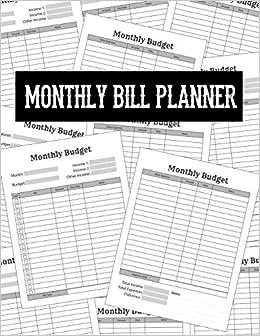 f25673e2b23b Monthly Bill Planner: Finance Journal for Budget Keeping | Budget ...