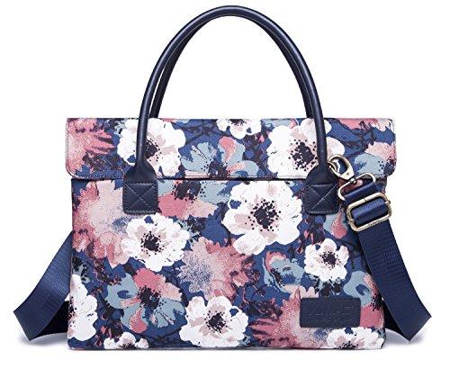 Kinmac Camellia Lightweight Slim Laptop Bag Sleeve Case Briefcase Shoulder Messenger Bag for MacBook Pro 15 and 14 inch Laptop