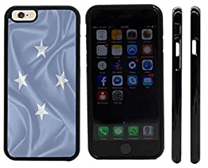 Rikki KnightTM Micronesia, Federated states of Flag Design iPhone 6 Case Cover (Black Rubber with front bumper protection) for Apple iPhone 6
