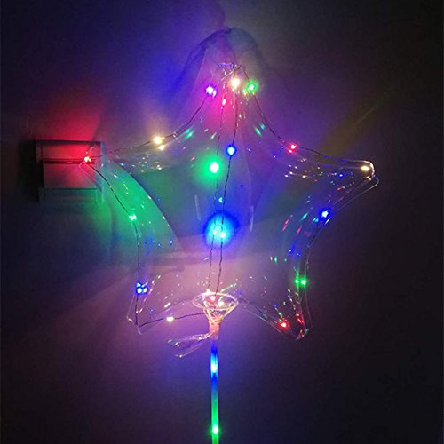 Swing Ball Party Balloons 1PCS 18 inch Luminous LED Transparent Star Shape Balloon Decoration for Christmas Party Thanksgiving Wedding