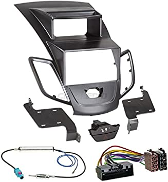 Ford Fiesta JA8 con Pantalla 10 – 13 de 2 DIN para Radio de Coche Set en Original Plug & Play Calidad con Antena Adaptador, Radio Cable de conexión, ...