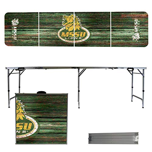 (Victory Tailgate NCAA Missouri Southern State University 8'x2' Foldable Tailgate Table with Adjustable Hight and Spill Resistant Sealant - Weathered Series )