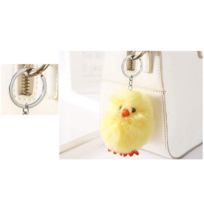 Yamalans Key Ring Holder, Cute Chick Shape Animal Stuffed ...