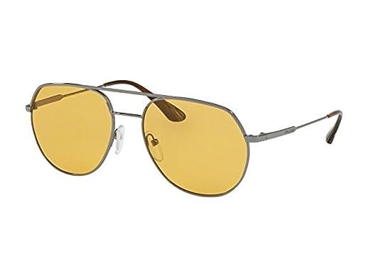PRADA Prada Herren Sonnenbrille » PR 55US«, grau, 5AV0B7 - grau/orange