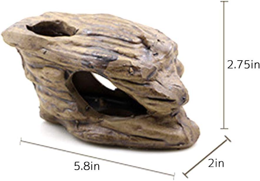 Creation Core Lizard Hideout Ceramic Branch Shape Snake Climbing Decor Reptile Habitat Decorations Aquarium Platform Hideouts Fish Shelter Hide Caves