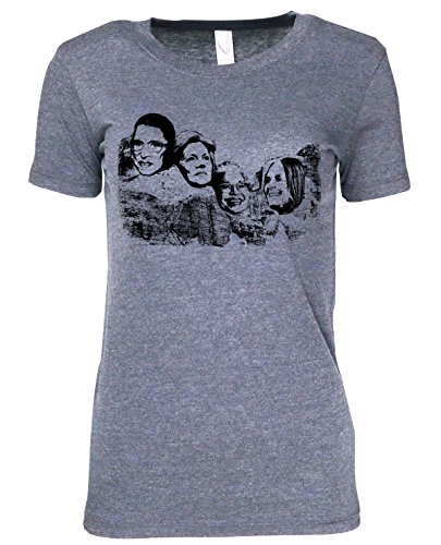 Mount Nasty- Great American Women on Mt. Rushmore-Junior womens cotton t shirt (extra large)