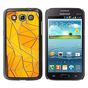Be Good Phone Accessory // Dura Cáscara cubierta Protectora Caso Carcasa Funda de Protección para Samsung Galaxy Win I8550 I8552 Grand Quattro // Polygon Building Gold Yellow Pattern