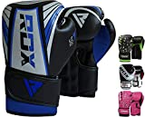 RDX Kids Boxing Gloves for Training & Muay Thai - Maya Hide Leather Junior 4oz, 6oz Mitts for Sparring, Fighting & Kickboxing - Good for Youth Punch Bag, Grappling Dummy and Focus Pads Punching