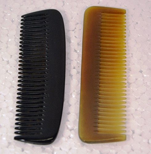 Comb Compass Set - 100% Handmade Natural Horn Comb without Handle 5-7