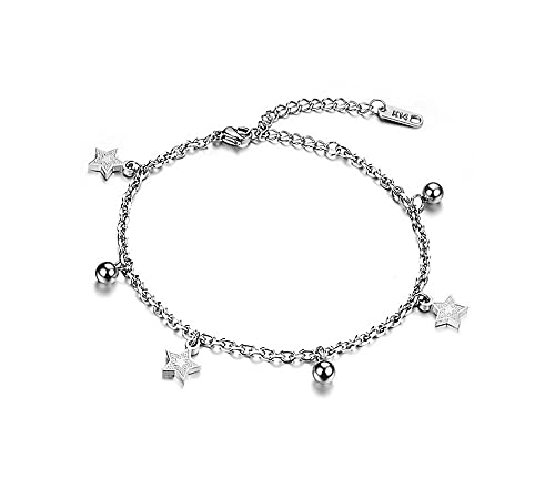 Amazon.com: elesan acero inoxidable estrella pulsera ...