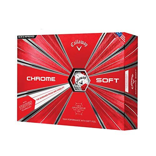 キャロウェイキャロウェイゴルフ新グラフェン四レイヤーボールクローム軟Xゲームボール B07S1C5PNV