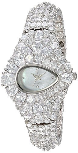 Adee Kaye Women's Quartz Brass Dress Watch, Color Silver-Toned (Model: AK9703-L)