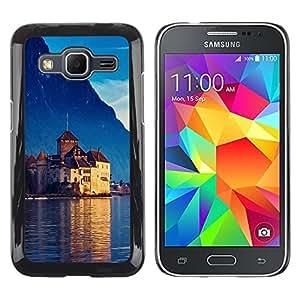 Caucho caso de Shell duro de la cubierta de accesorios de protección BY RAYDREAMMM - Samsung Galaxy Core Prime SM-G360 - Castle In Switzerland