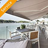 Retractable Patio Cover Installation - Up to 16 Feet Wide Feet Wide - Wood