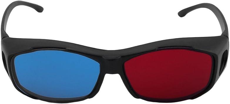 Escriba Gafas 3D TV Movie Dimensional Marco anaglifo Vídeo 3D Vision Lentes de DVD Juego de Cristal Rojo y Azul: Amazon.es: Electrónica