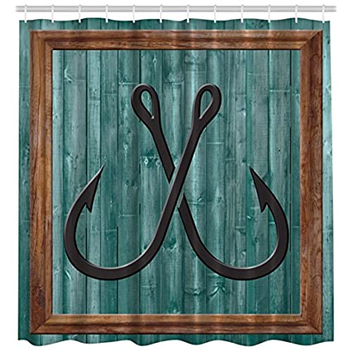 Charmant ... Lures Nautical Anchor Modern Abstract Painting Symbol Wooden Frame  Rustic Vintage Style Art Printed Accessories Decor Fish Theme, Teal Brown  Black