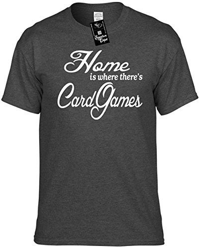 Mens Funny T-Shirt Size S (Home is where there's Card Games) Unisex Shirt