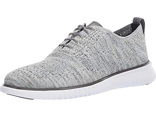 Cole Haan Men's 2.Zerogrand Stitchlite Oxford Smoke/Deep Dive/Reef Water Heathered Knit/Deep Dive/Optic White 11 D US
