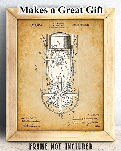 Mining Machine – 11×14 Unframed Patent Print – Great Gift for Country or Mountain Cabin Decor
