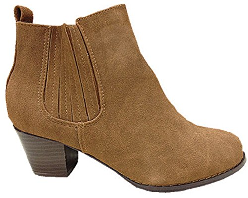 Carree 8097 Heel Bottine Girl's Camel Shoe AXSxqxd