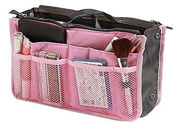 Demarkt bolsa de viaje cosméticos organizador funda Inserto almacenamiento bolso Mujer Rosa