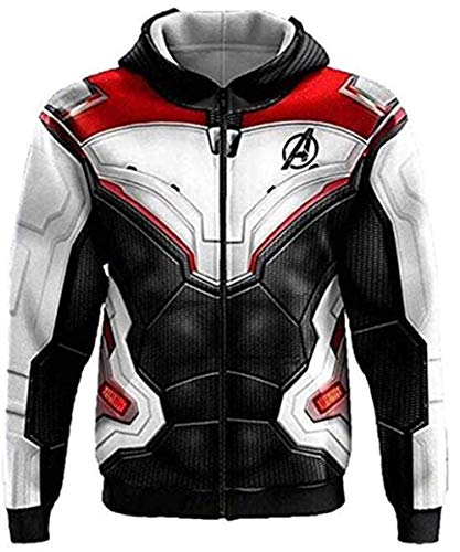 Super-Cos Unisex Superhero Hoodie Adult Sweatshirt Jacket for Halloween Cosplay Costume