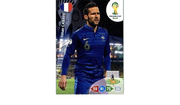 Panini 384 Yohan Cabaye Frankreich FIFA WM 2014 Brasilien