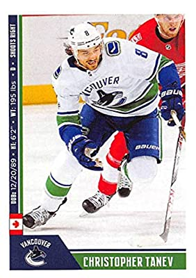 2018-19 Panini NHL Stickers Hockey  468 Christopher Tanev Vancouver Canucks 680e5fd16