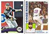 #7: Charlie Blackmon Lot of 2 Baseball Cards: 2011 Topps Update Rookie Card and 2017 Topps Throwback Thursday 'Chuck Nazty' Card