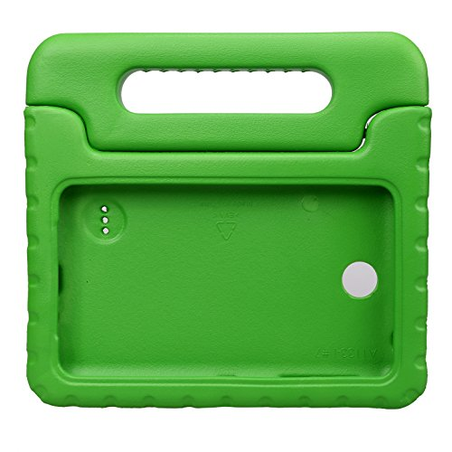 NEWSTYLE Shockproof Light Weight Kids Case with Protection Cover Handle and Stand for Samsung Galaxy Tab 4 7-inch, SM-T230, SM-T231, SM-T235 - Green (Not Fit Other Models) (4 Galaxy Tab Case Green)