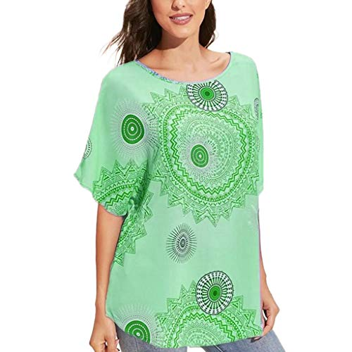 Mebamook Women's Scoop Neck A-Line Tunic Blouse Striped Off Shoulder Bell Sleeve Shirt Tie Knot Casual Blouses Green