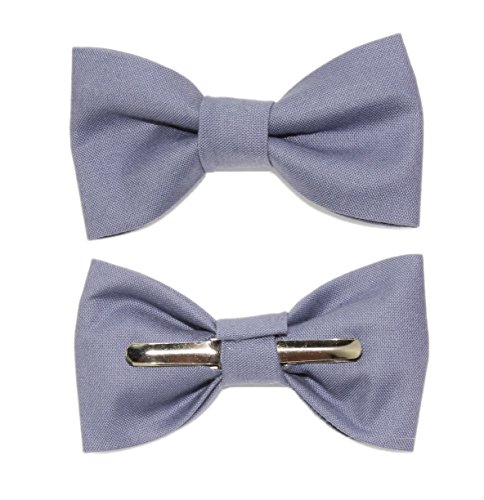 Toddler Boy 3T 4T Slate Blue Clip On Cotton Bow Tie by amy2004marie by amy2004marie