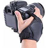 Ozure PU Leather Soft Camera Hand Grip Wrist Strap for Canon Nikon Sony SLRDSLR (Black)