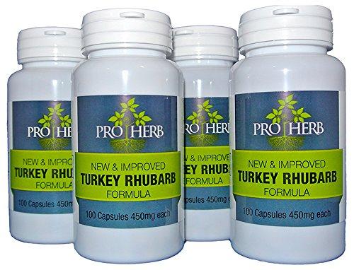 Pro Herb, Turkey Rhubarb 450mg, 100 Capsules 4 PACK 4
