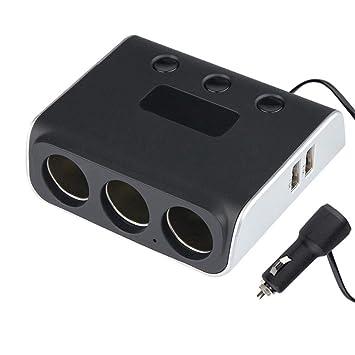 mechero Doble interfaz USB 3 en 1 cargador para coche ...