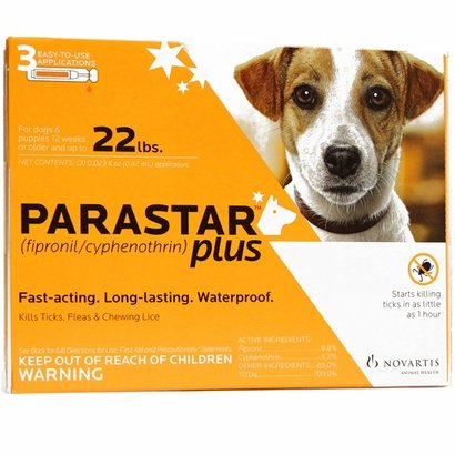 Parastar Plus 3pk 4-22lb Flea & Tick by Novartis by Novartis by Novartis