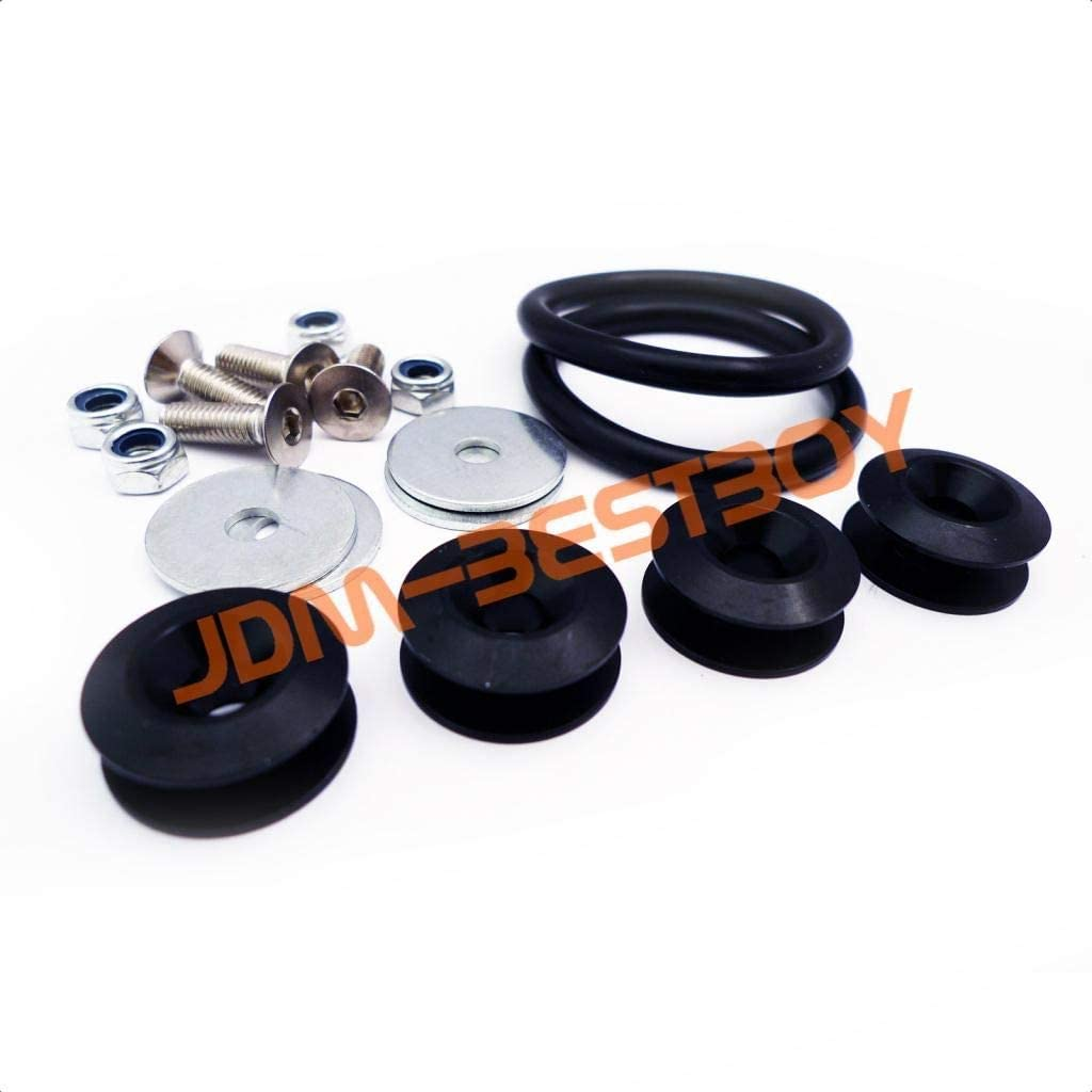 JDMBESTBOY Black Quick Release Fasteners for Car Bumpers Trunk Fender Hatch Lids Kit