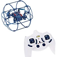 Dwi Dowellin RC Drones For Beginners Wall Climbing UFO Quadcopter Aircraft with Headless Mode 370 blue