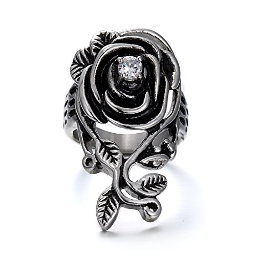 stainless steel rings gothic - 7