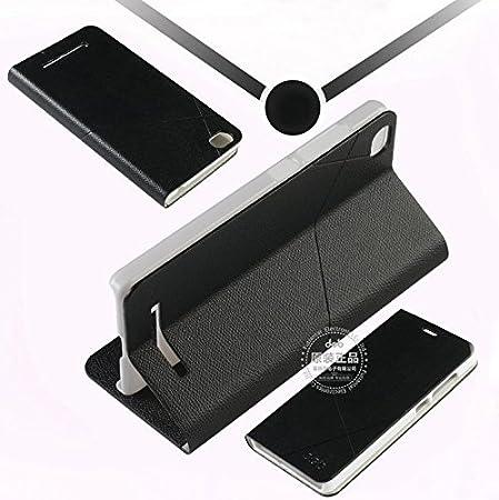 Prevoa ® 丨 Flip PU Protictive Funda Case para Xiaomi Mi4C 4C M4C 5,0 Pulgadas Smartphone - Negro