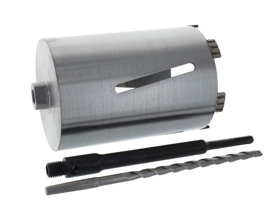 Diamant Bohrkrone SDS-plus lang (200mm) Aufnahme und Zentrierbohrer Nutzlänge 180 mm Ø 112 mm Betonbohrkrone Kernbohrer BTEC