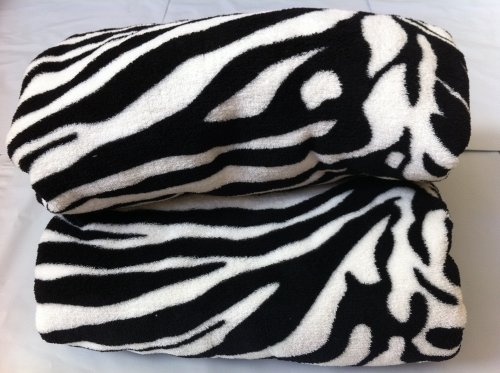 Queen Blanket Sumptuously Soft Plush Black Zebra Animal Print Blankets / Reversible - Queen Zebra Animal