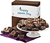 Fairytale Brownies Admin Day Magic Morsel 24 Gourmet Food Gift Basket Chocolate Box - 1.5 Inch x 1.5 Inch Bite-Size Brownies - 24 Pieces