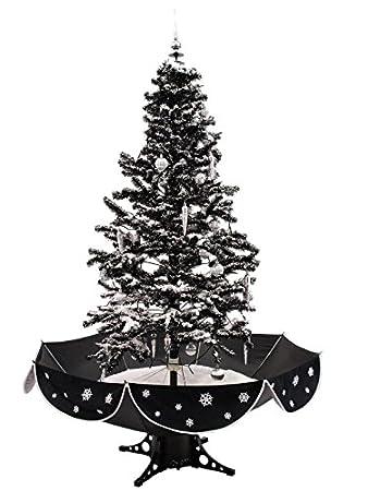 170cm cascading black snow christmas tree - Snow Christmas Tree