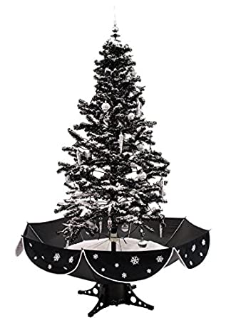 170cm cascading black snow christmas tree - Black Christmas Tree