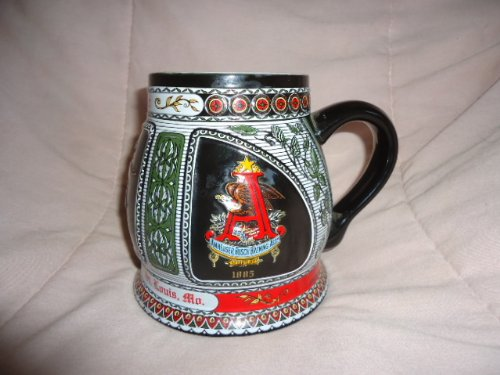 RARE LIMITED EDITION 1992 BUDWEISER CS-201 A & EAGLE LOGO STEIN IN DECORATIVE TIN - FIRST IN SERIES