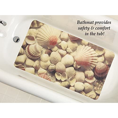 Seabreeze Seashell Printed Bathtub Mat, Plastic hot sale