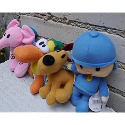 Pocoyo Plush Mini Pato Pocoyo Elly & Loula Dog 4pcs Pocoyo Doll Stuffed Animals Figures Anime Cute Soft Collection Toy: Beauty